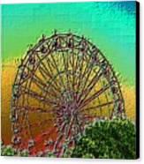 Rainbow Ferris Wheel Canvas Print