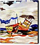Rainbow Fleet Canvas Print by Farah Faizal