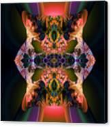 Rainbow Hydranga Abstraction Canvas Print by Claude McCoy