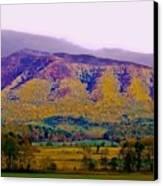 Rainbow Mountain Canvas Print by DigiArt Diaries by Vicky B Fuller