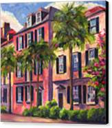 Rainbow Row Charleston Sc Canvas Print by Jeff Pittman