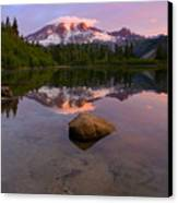 Rainier Dawn Breaking Canvas Print