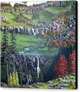 Rainier In Fall Canvas Print