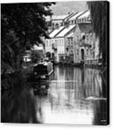 Raining On The Canal Canvas Print