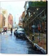 Rainy Afternoon On Amsterdam Avenue Canvas Print