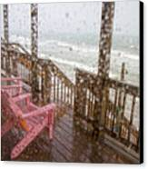 Rainy Beach Evening Canvas Print