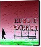 Rainy Day At The Market Canvas Print