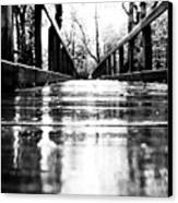 Take A Walk With Me In The Rain Canvas Print by Valeria Donaldson