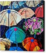 Rainy Day Personalities Canvas Print by Susan DeLain