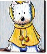 Rainy Day Westie Canvas Print