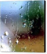 Rainy Window Abstract Canvas Print