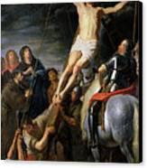 Raising The Cross Canvas Print