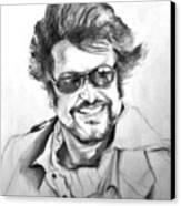 Rajnikanth Canvas Print by ilendra Vyas