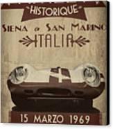 Rally Italia Canvas Print by Cinema Photography