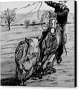 Ranch Work Canvas Print