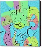 Random Lines  Canvas Print