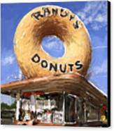 Randy's Donuts Canvas Print by Russell Pierce
