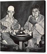 Raoul And Dr. Gonzo In Las Vegas Canvas Print