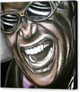 Ray Charles Canvas Print by Zach Zwagil