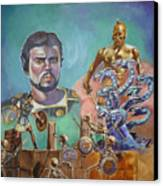 Ray Harryhausen Tribute Jason And The Argonauts Canvas Print