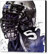 Ray Lewis -  Last Game Canvas Print