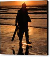 Razor Clam Hunter Canvas Print