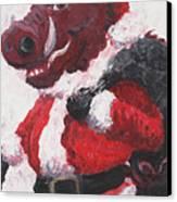 Razorback Santa Canvas Print