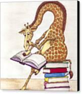 Reading Giraffe Canvas Print by Julia Collard