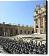 Ready For Pope's Appearance Canvas Print by Munir Alawi