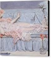 Reclining Model Canvas Print by Albert Joseph Moore