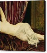 Reclining Nude Canvas Print by Henri Fantin Latour