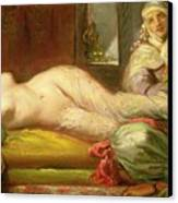Reclining Odalisque Canvas Print by Theodore Chasseriau