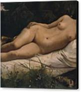 Recumbent Nymph Canvas Print by Anselm Feuerbach
