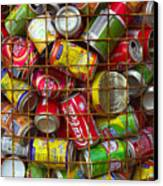 Recycling Cans Canvas Print
