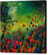 Red And Blue Poppies 67 1524 Canvas Print