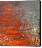 Red And Grey Abstract Canvas Print