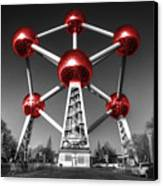 Red Atomium Canvas Print by Rob Hawkins