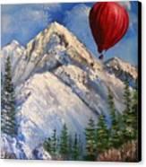 Red Balloon  Canvas Print by Crispin  Delgado