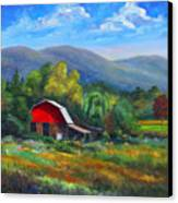 Red Barn On Cane Creek Canvas Print by Jeff Pittman