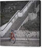 Red Bicycle Canvas Print by Kevin Bergen