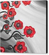 Red Blooms Canvas Print by Brenda Higginson