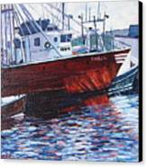 Red Boats Canvas Print