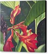 Red Cannas Canvas Print by Deleas Kilgore