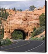 Red Canyon Tunnel Canvas Print