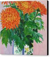 Red Chrysanthemums Canvas Print