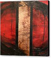 Red Circle Of Life Canvas Print