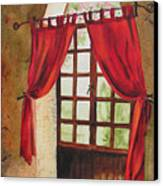 Red Curtain Canvas Print