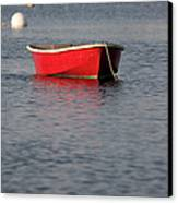 Red Dingy - Rye Harbor New Hampshire Usa Canvas Print
