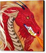 Red Dragon Canvas Print by Debbie LaFrance