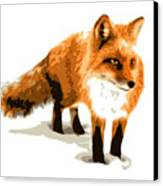 Red Fox In Winter Canvas Print by DB Artist